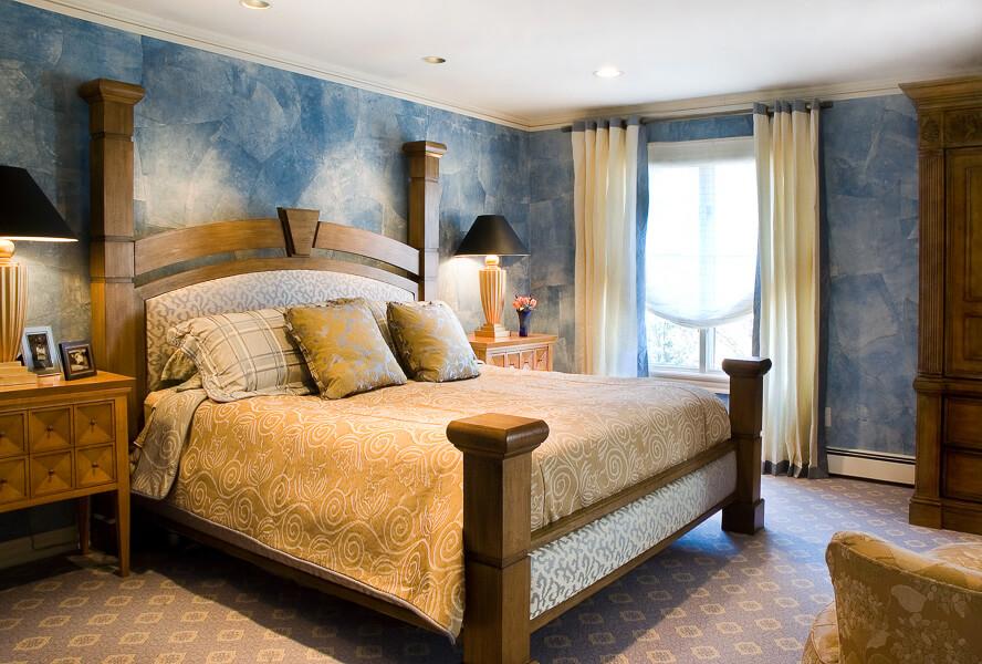Demerast NJ - Neutral and Blue Bedroom Design