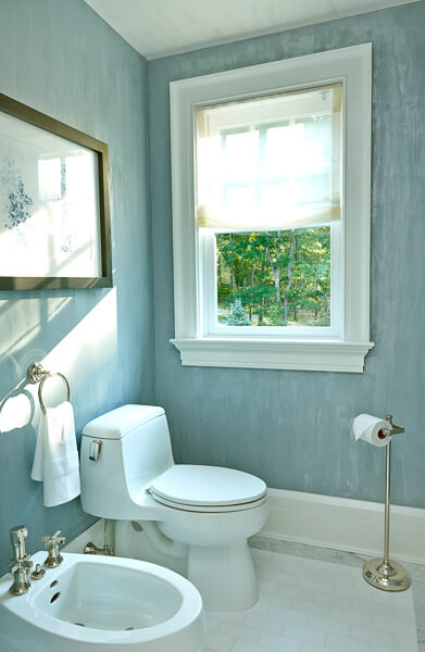 Bathroom Design - Blue and White