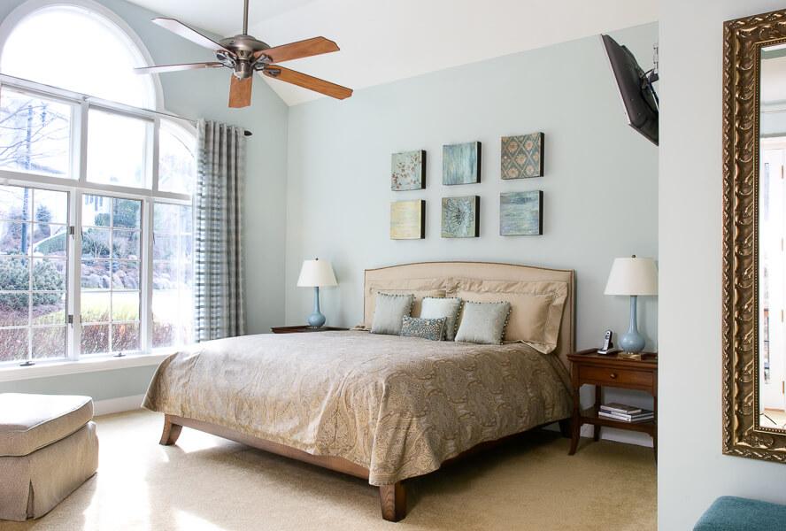 Bedroom Design with Custom Bedding