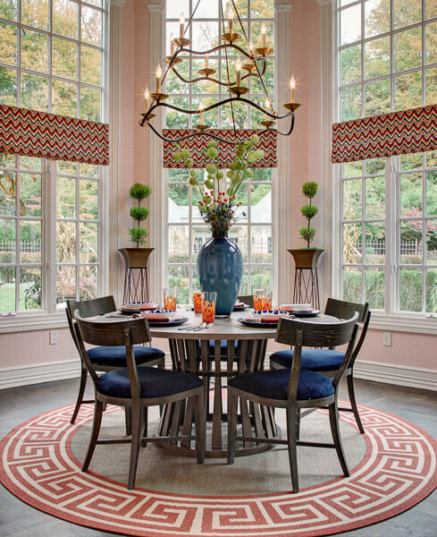 Kitchen Seating with Chandelier